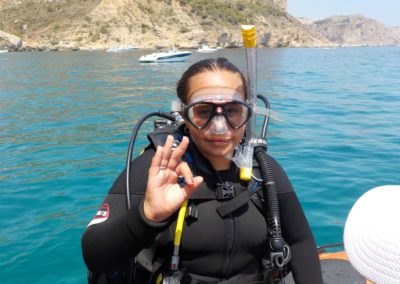 Yound divers at Scuba Moraira